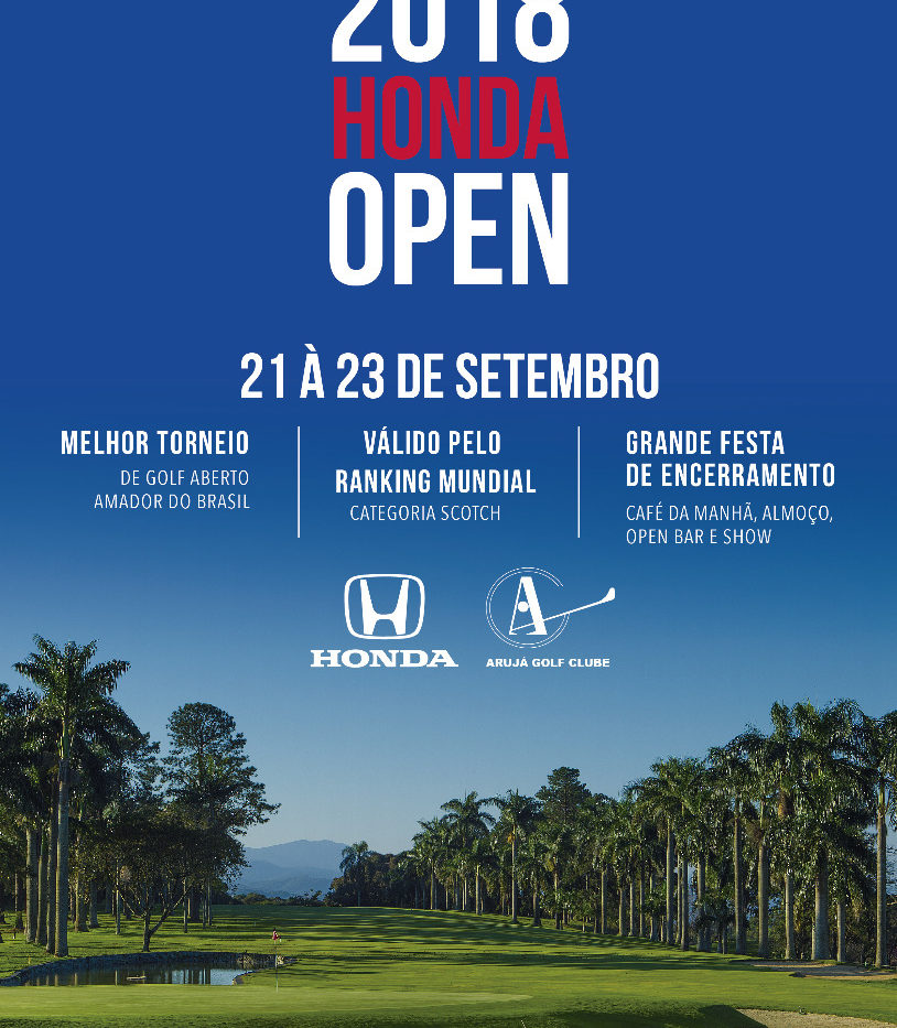 42° Aberto Arujá Golf Clube – Honda Open 2018