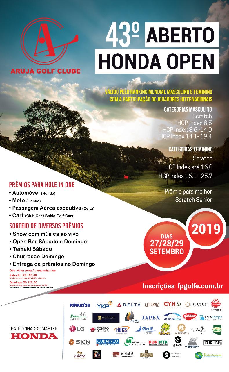 43° Aberto Arujá Golf Clube - Honda Open 2019